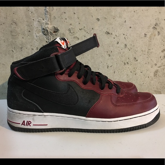 Nike - Air Force 1's- Mid 07'-B/R/W- Size 12- USED